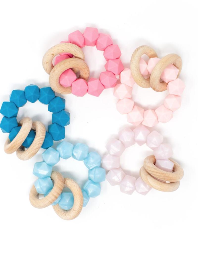 Three Hearts Modern Teething Accessories Abby Teething Rattle