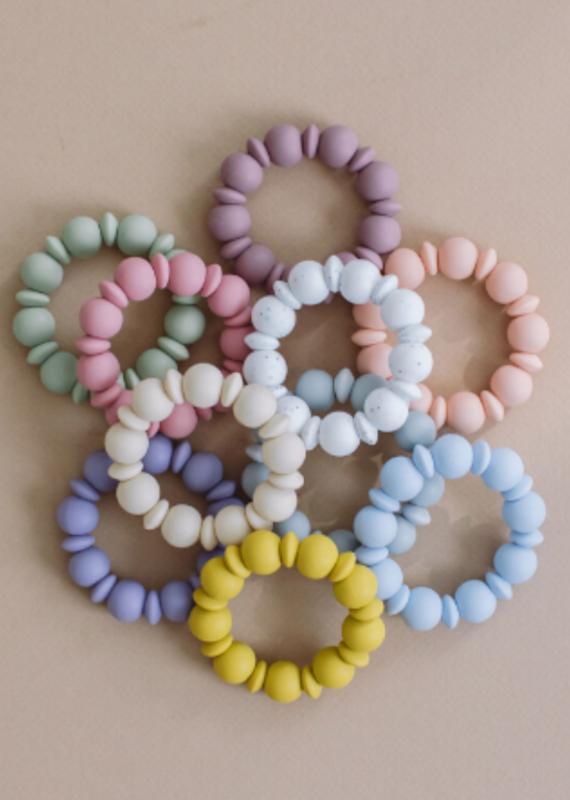 Three Hearts Modern Teething Accessories Adelia Teething Ring & Bracelet