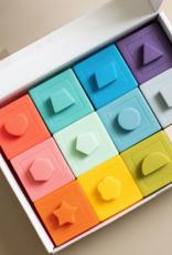 Three Hearts Modern Teething Accessories Building Block Teether & Bath Toy