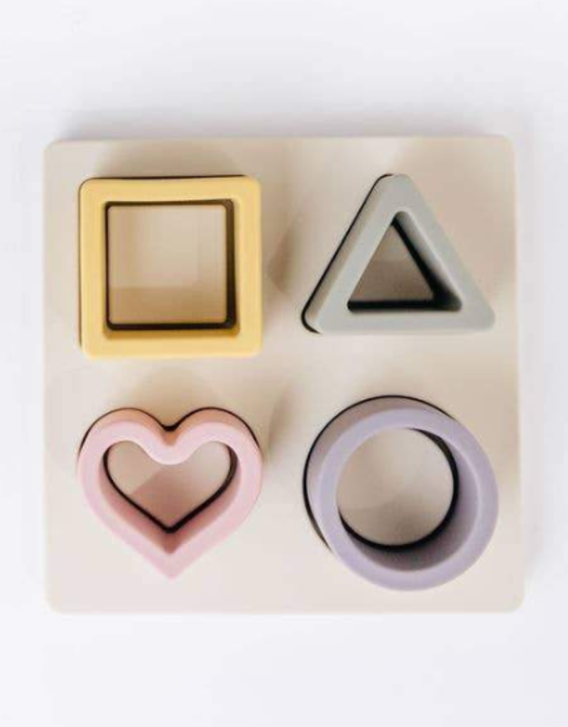 Three Hearts Modern Teething Accessories Silicone Puzzle
