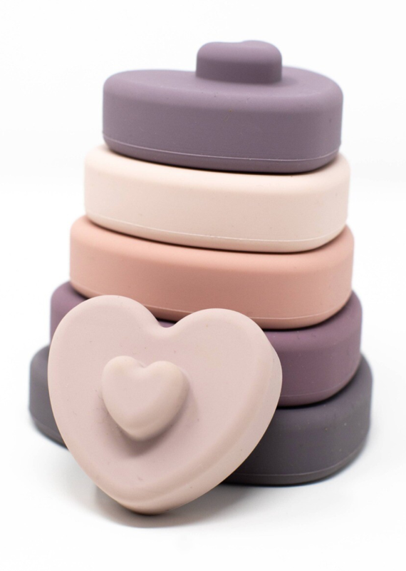 Three Hearts Modern Teething Accessories LE Heart Stacker