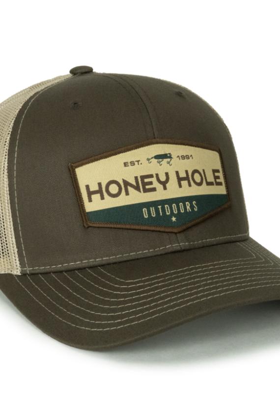 Honey Hole Brown Hex Hat