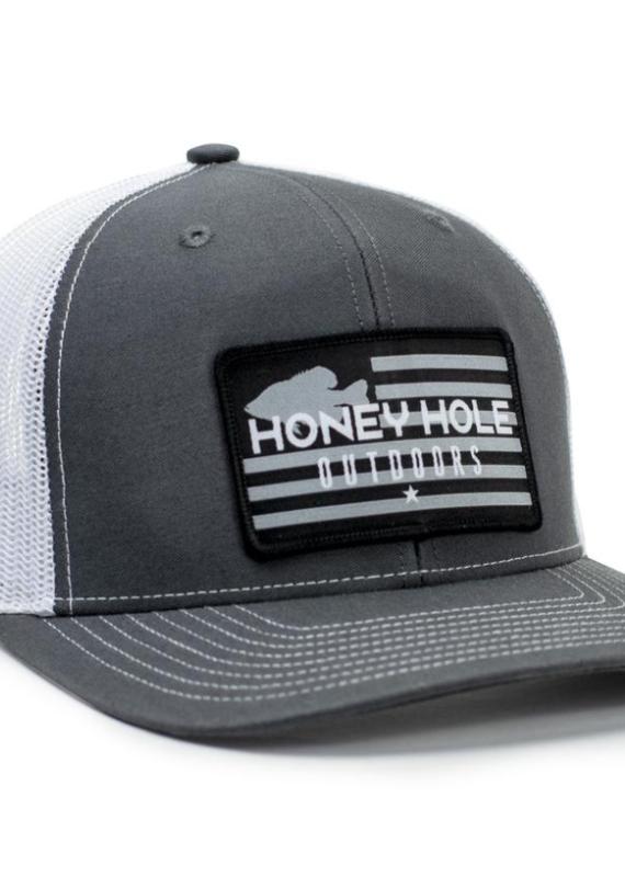 Honey Hole Grey Flag Hat