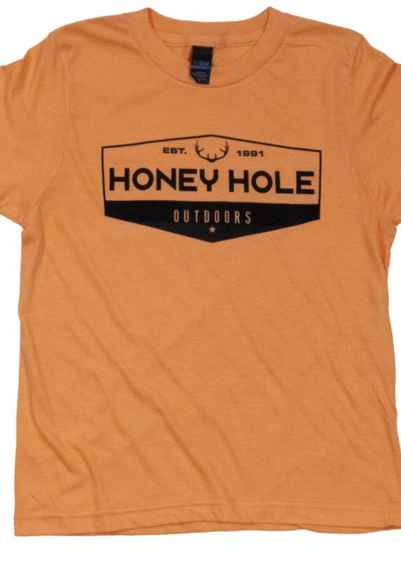 Honey Hole Deer Hex Tee- Youth