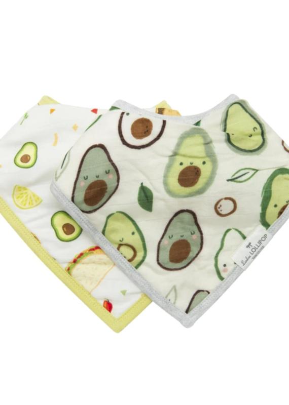 LouLou Lollipop Bandana Bib Set- Avocado