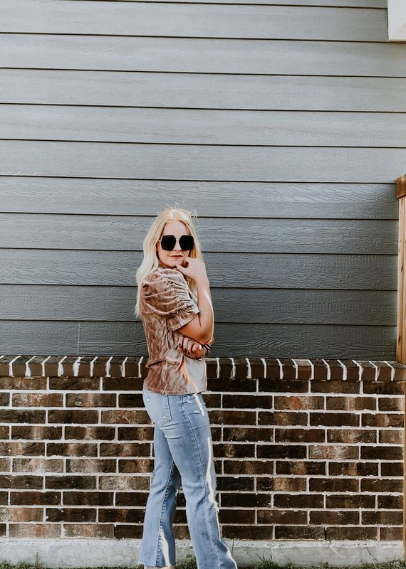 THML Chenille Ruched Top