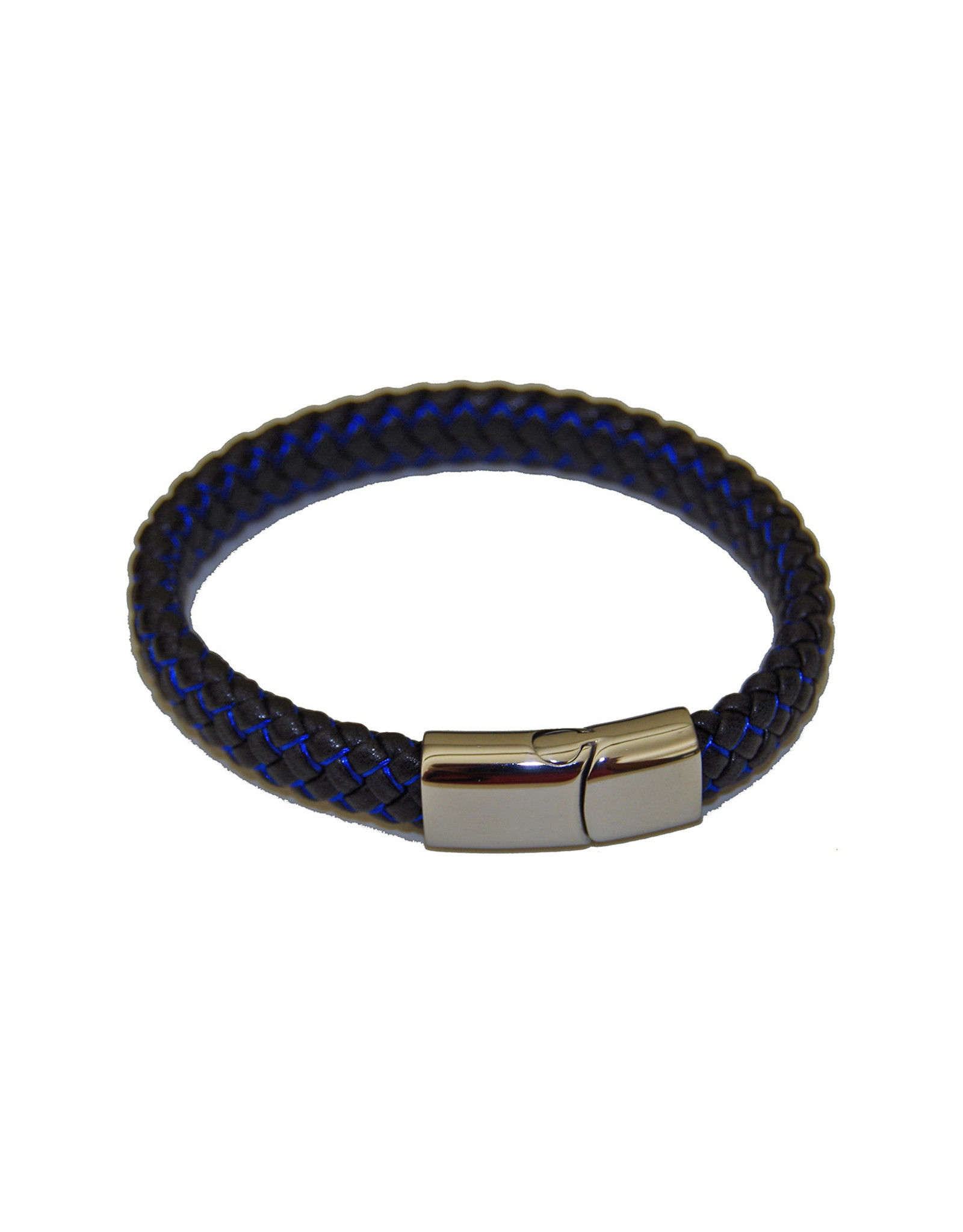 Blue Line Braided Bangle