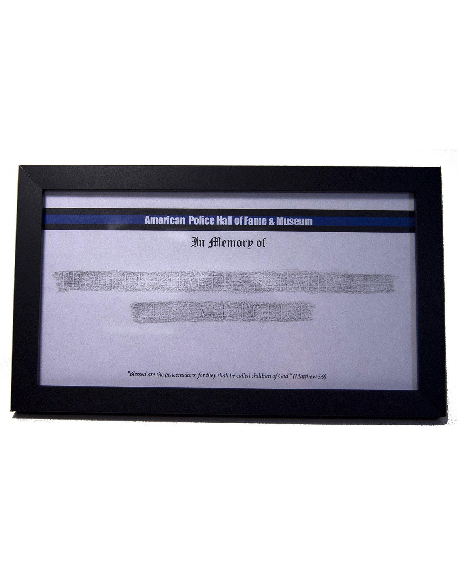 Memorial Etching Frame