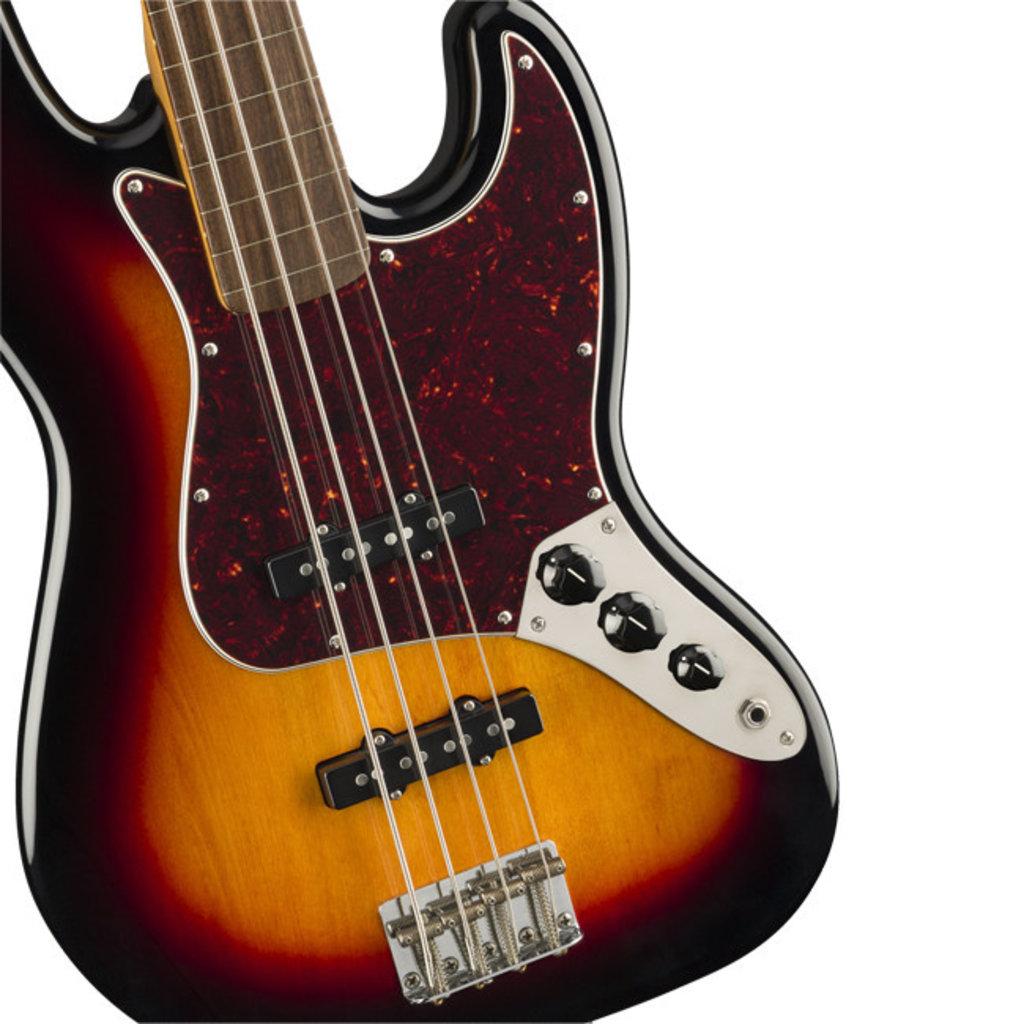 Fender Fender Squier Classic Vibe 60's Jazz Bass - 3-Tone Sunburst Fretless