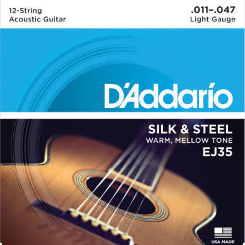 D'addario D'Addario Ej35 Silk And Steel 12 String