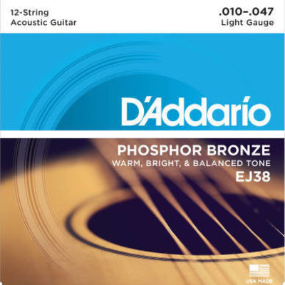D'addario D'Addario Ej38 12 String Light