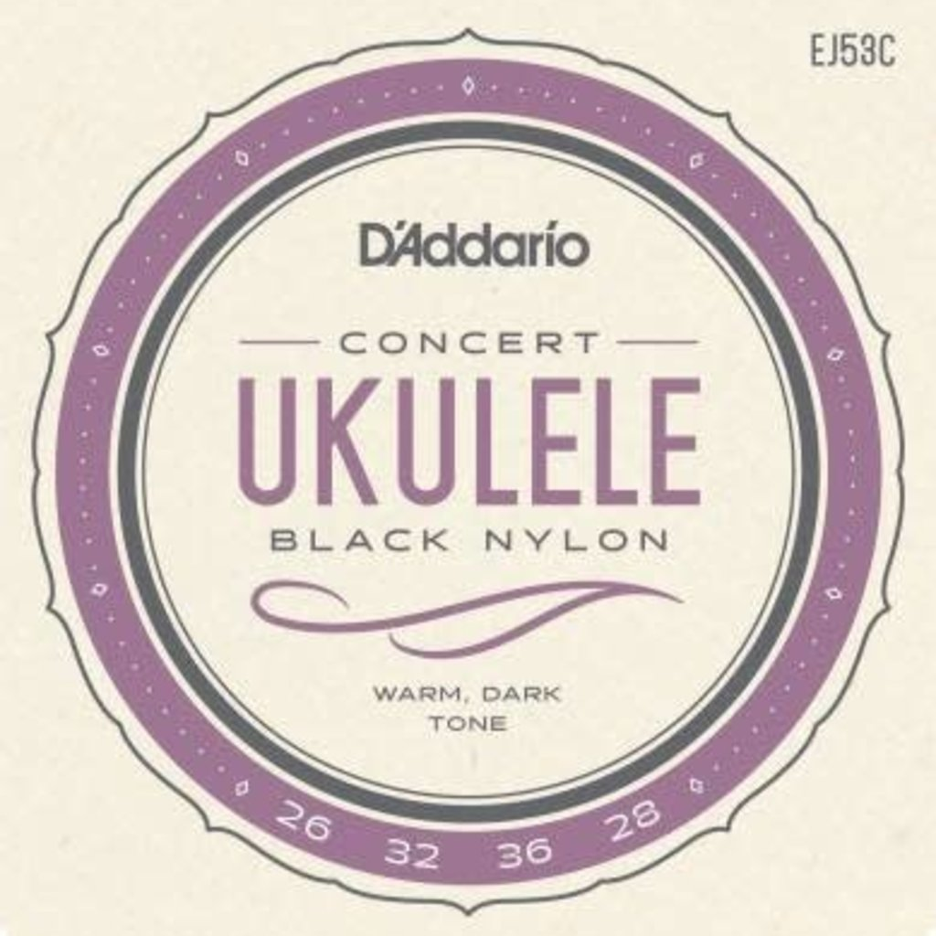 D'addario D'addario EJ53C Concert Ukulele Strings Black Nylon