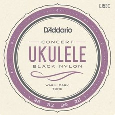 D'addario D'Addario EJ53C Black Nylon Concert Ukulele Strings
