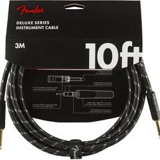 Fender Fender 10' Deluxe Instrument Cable Black Tweed  Straight