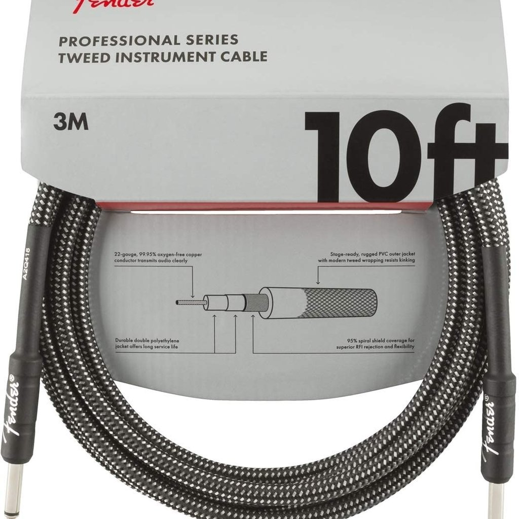 Fender Fender Pro Instrument Cable 10' Grey Tweed