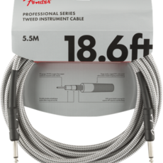 Fender Fender 18.6' Pro Instrument Cable White Tweed