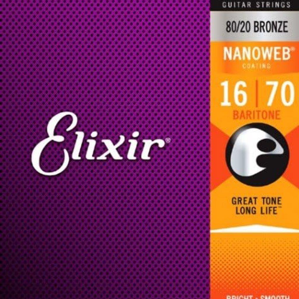 Elixir Elixir Baritone Acoustic Strings 11306