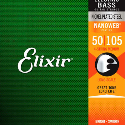 Elixir Elixir Nano 50-105 Medium Bass  14102