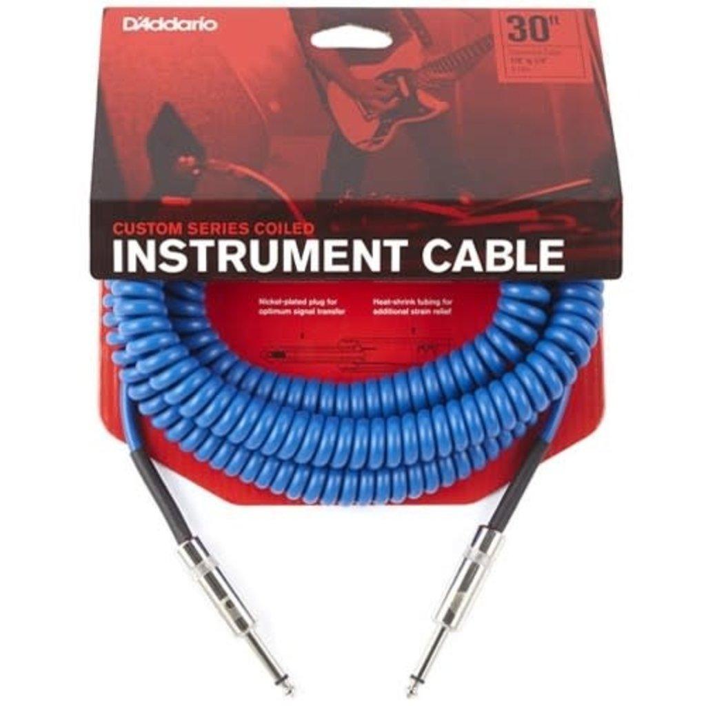 D'addario D'addario Coiled Cable Blue PW-CDG-30BU