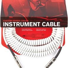 D'addario D'addario Coiled Cable White PW-CDG-30WH