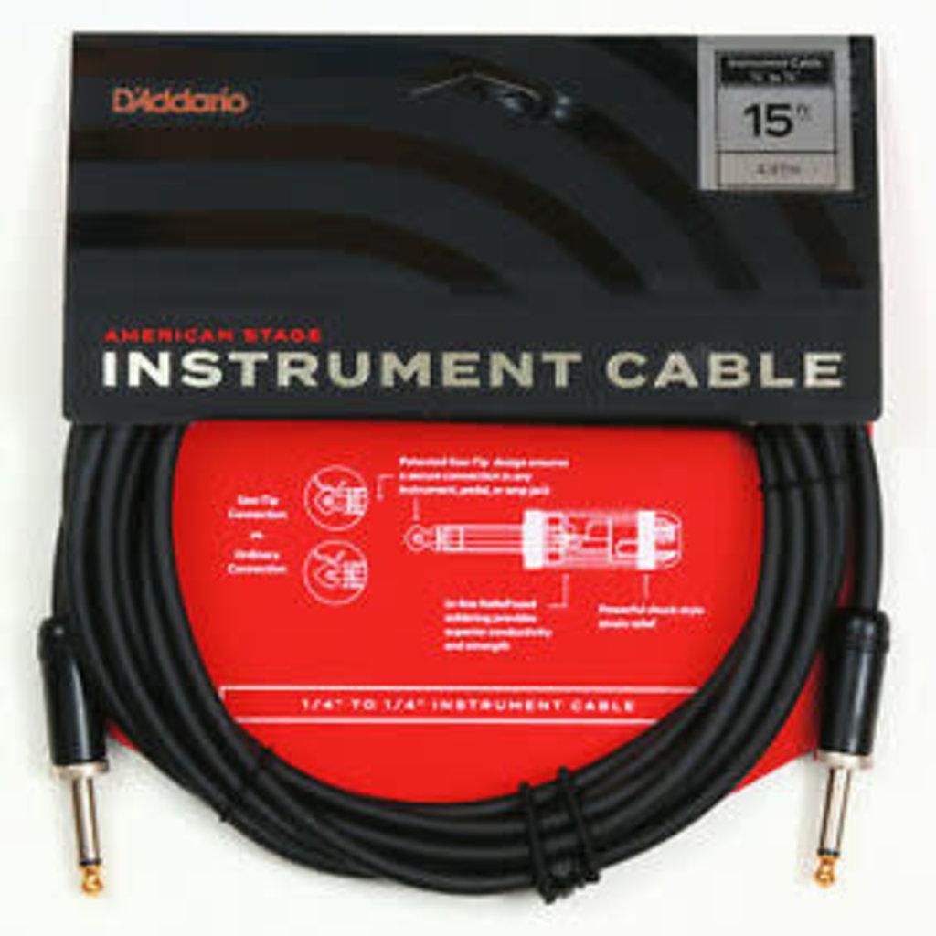 D'addario D'addario American Stage Cable PW-AMSG-15