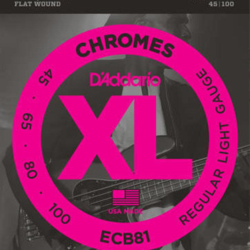 D'addario D'Addario ECB81 Chrome Flatwound Bass Strings