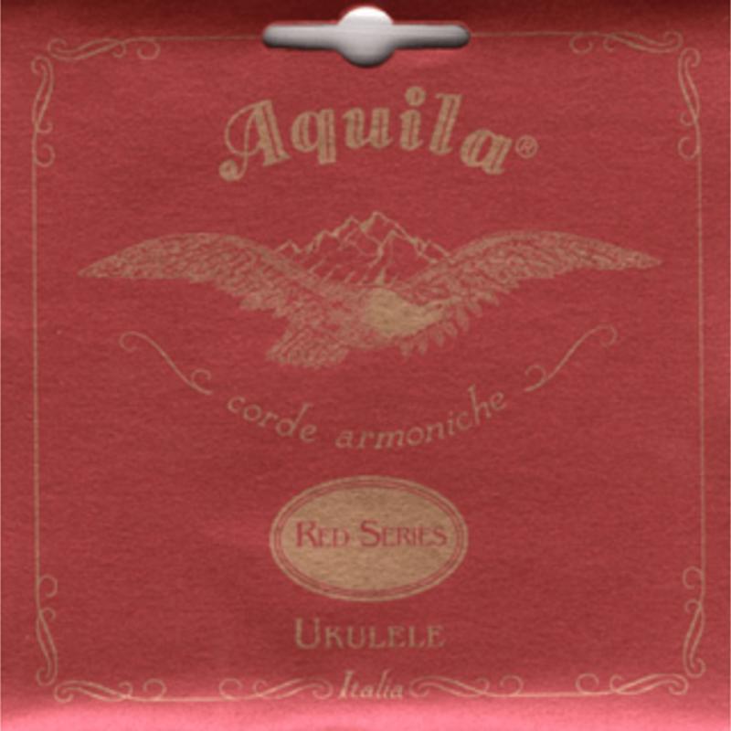 Aquila Baritone Ukulele Strings Set Red Series with   89U