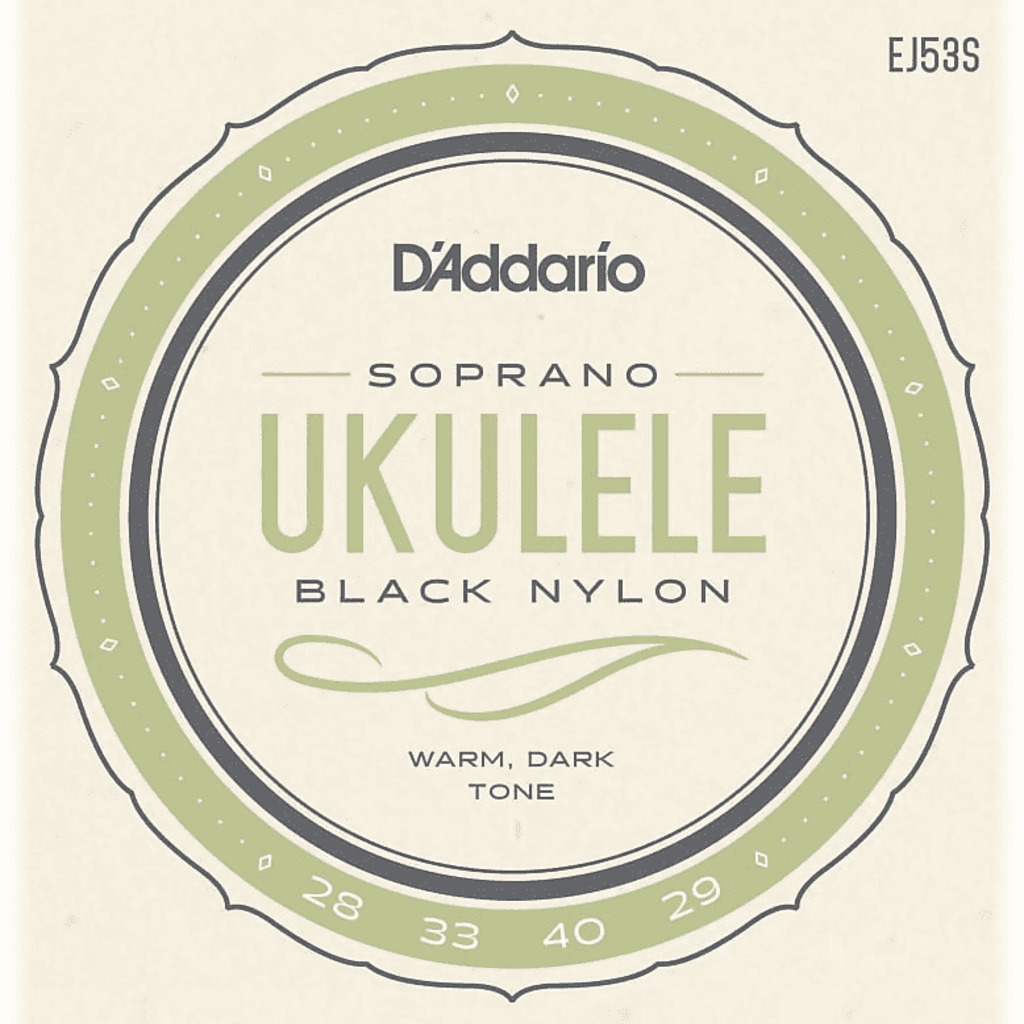 D'addario D'Addario EJ53S Black Nylon Soprano Ukulele Strings