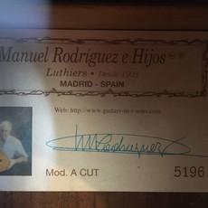 Consignment Consignment Manuel Rodriques Classical Guitar Mod. A Cut
