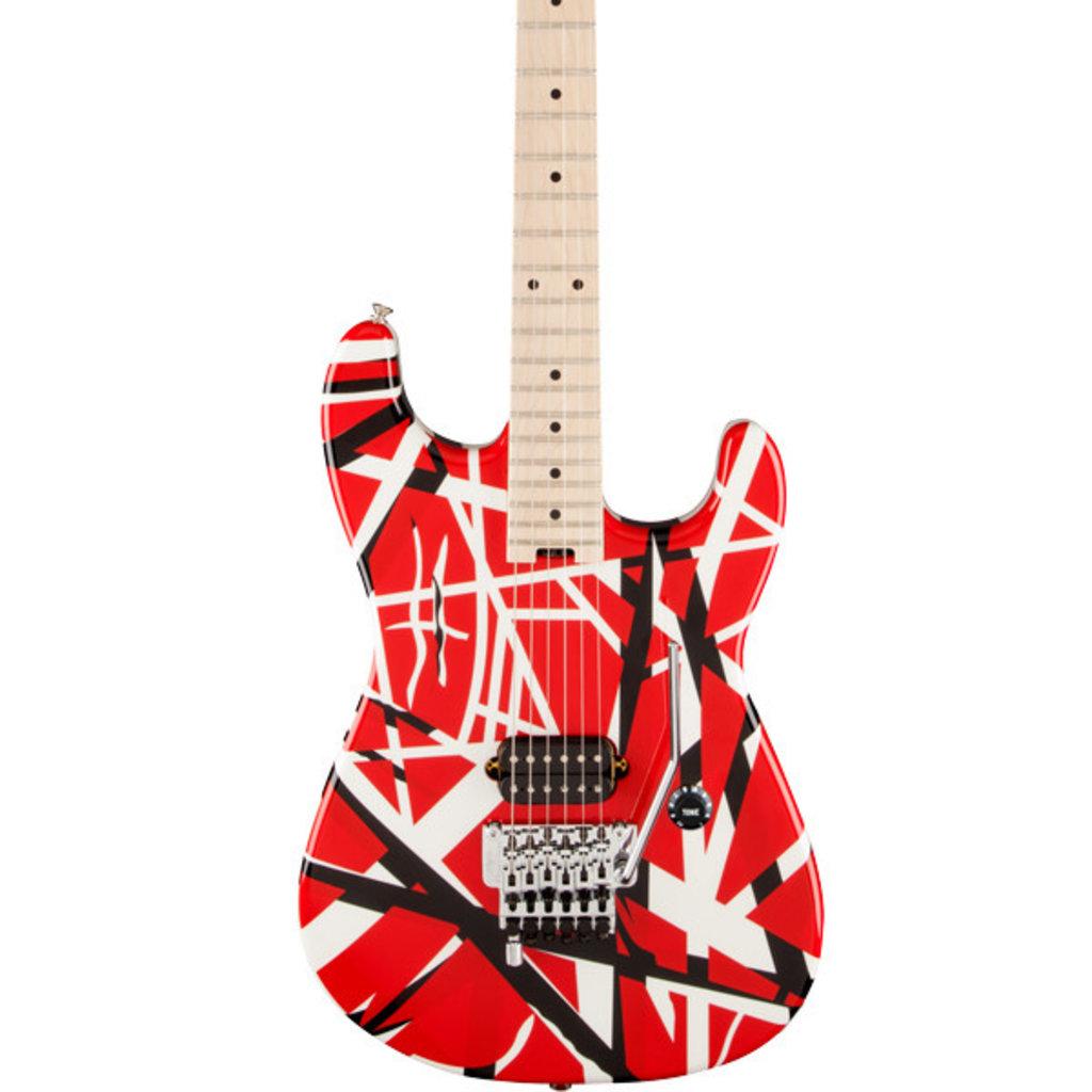 EVH EVH Striped Series - Red w/Black Stripes