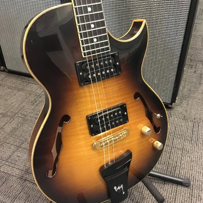 Consignment Brian Mascarin Semi Hollow Single Cut Custom Hand Made TZ