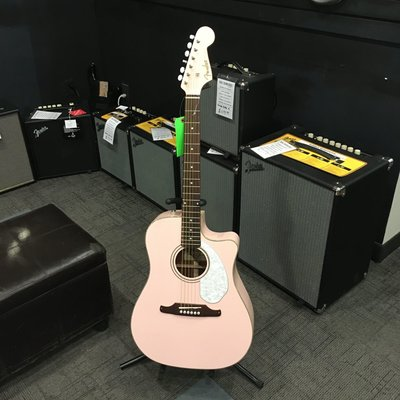 Fender Consignment/Used Fender Sonoran SCE Shell Pink Acoustic