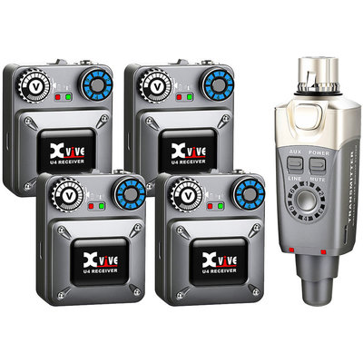 Line 6 Xvive U4R4 Wireless In-Ear Monitoring System Set (1 Transmitters, 4 Receivers)