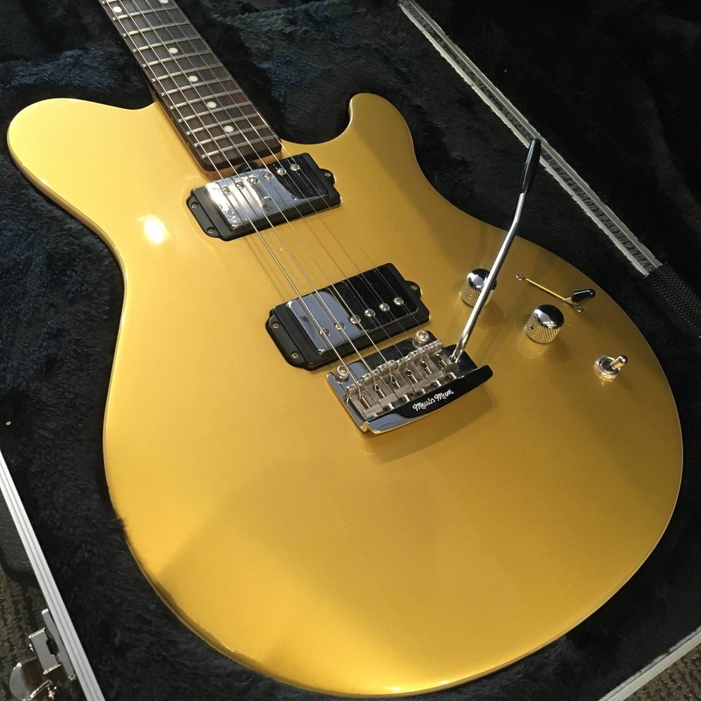 Ernie Ball Consignment/Used Ernie Ball Music Man Reflex Vintage Gold w/Custom Case