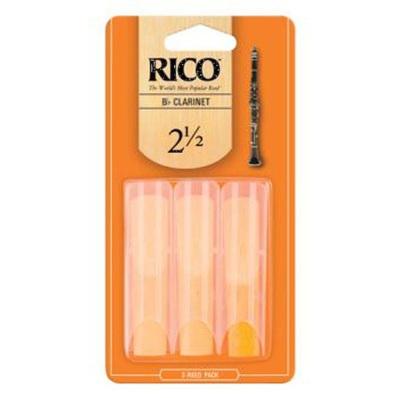 Rico Clarinet Reed 3 Pak - #2.5  RCA0325