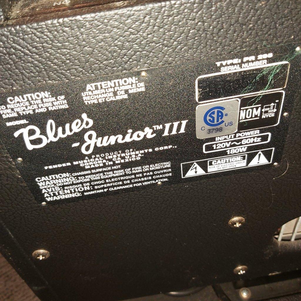 Fender Consignment / Used Fender Blues Junior III Amp