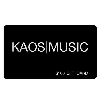 Kaos Music Gift Card $100