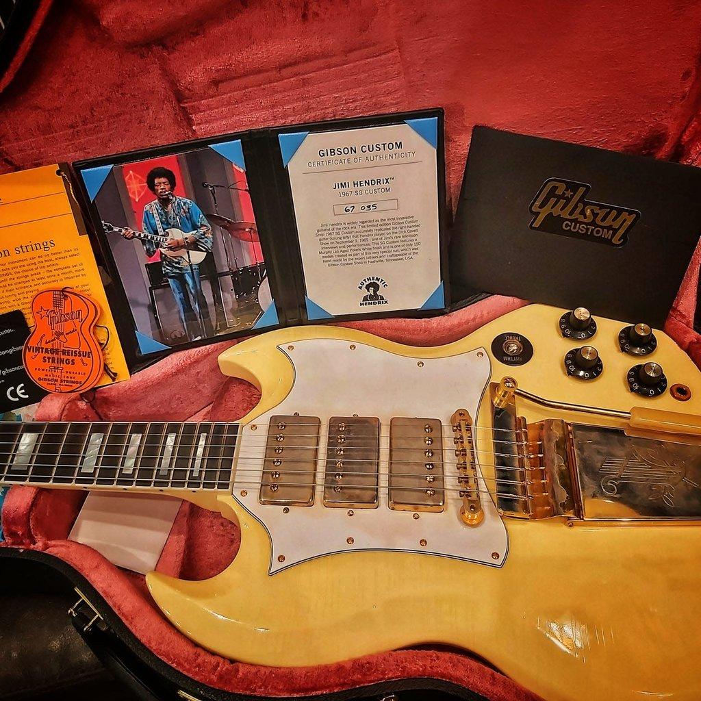 Gibson Gibson Jimi Hendrix 1967 SG Custom Aged Polaris White