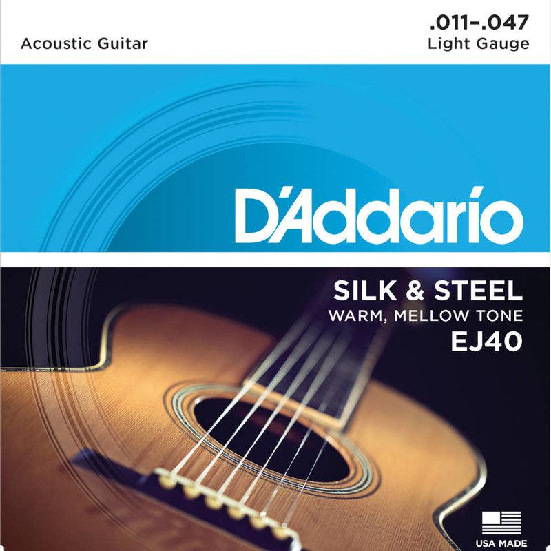 D'addario D'Addario Ej40 Silk And Steel