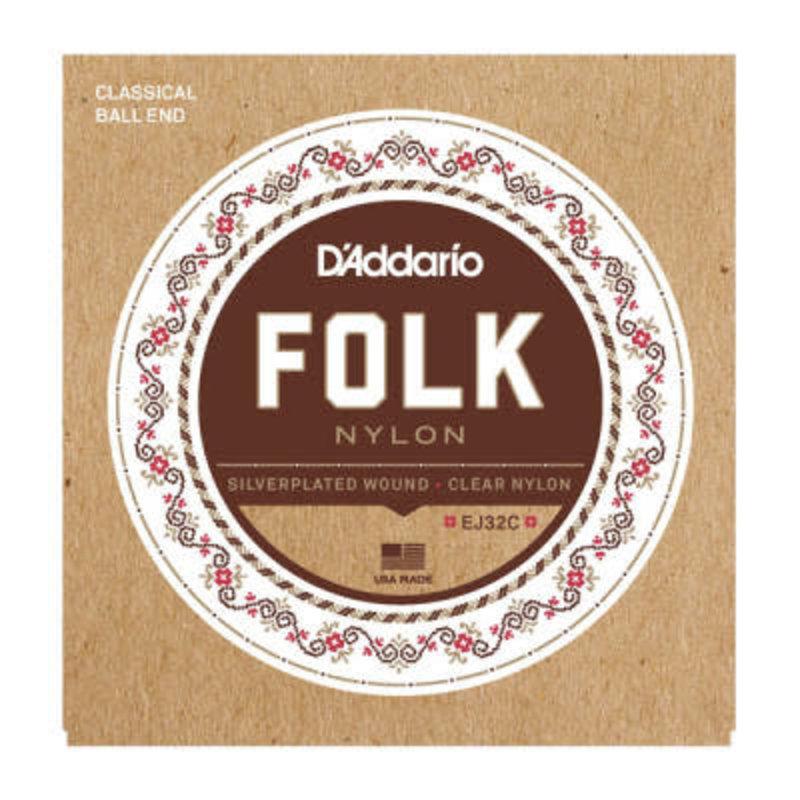 D'addario D'Addario EJ32C Nylon strings with Ball End