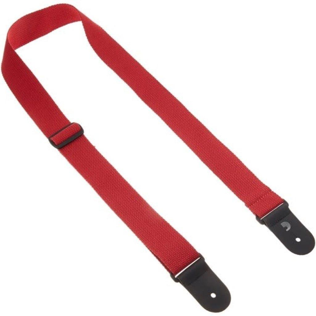 D'addario D'addario Cotton Strap Red Guitar Strap 50CT05