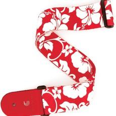 D'addario D'addario Hibiscus Red Guitar Strap P20S1502