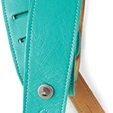 D'addario D'addario 20GL04 Leather Guitar Strap Teal
