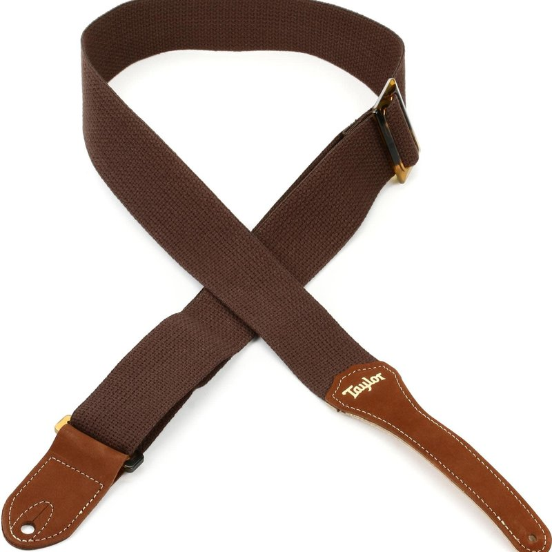 "D'addario Taylor Guitar Strap, Chocolate Brown 2"" Cotton"
