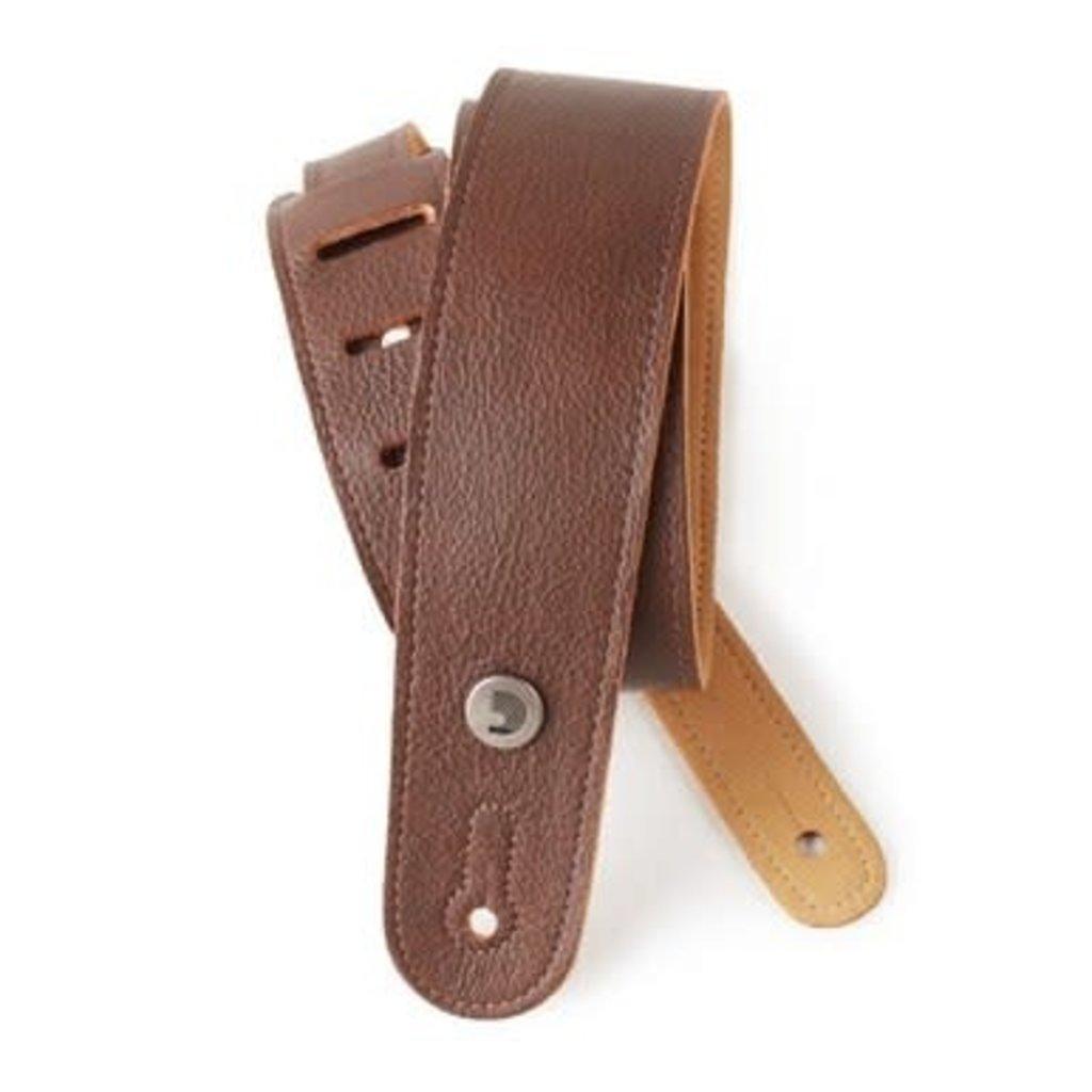 D'addario D'addario 20GL01 Leather Guitar Strap Brown