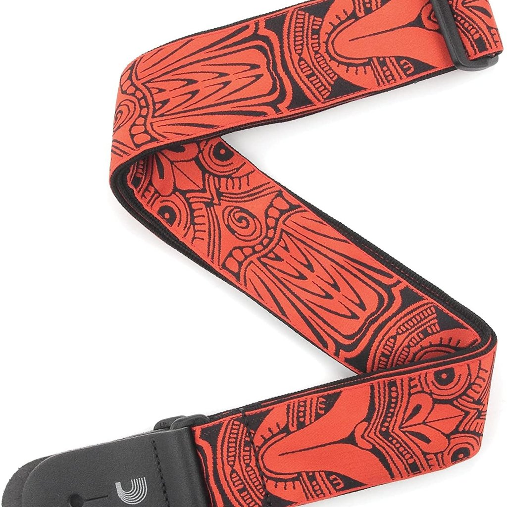 "D'addario D'addario T20W1413 2"" Guitar Strap Tiki Mask Red"