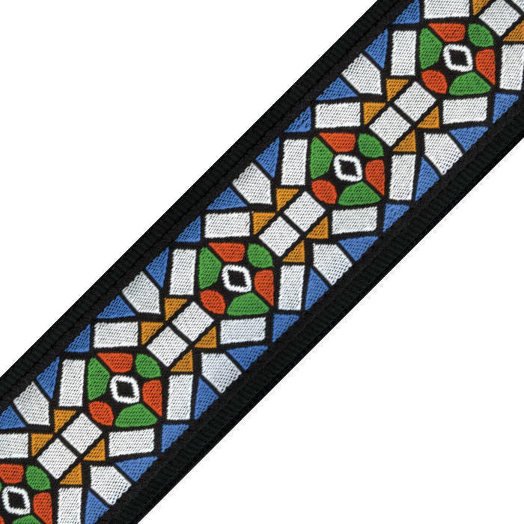 D'addario D'addario 50E02 50MM Guitar Strap Stained Glass