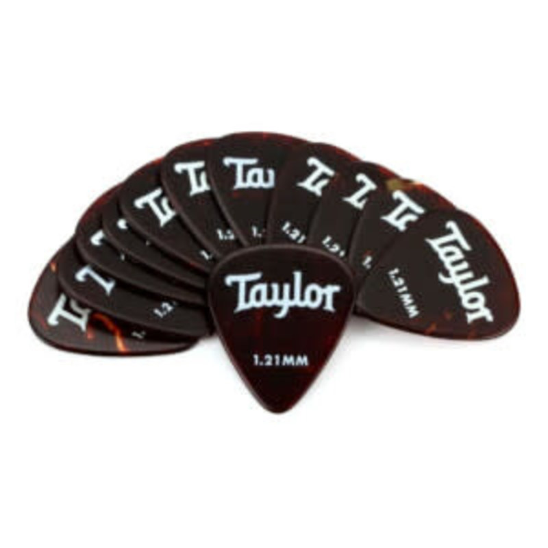 Taylor Guitars Taylor Celluloid 351 Picks Tortoise Shell 1.21mm 12 pack