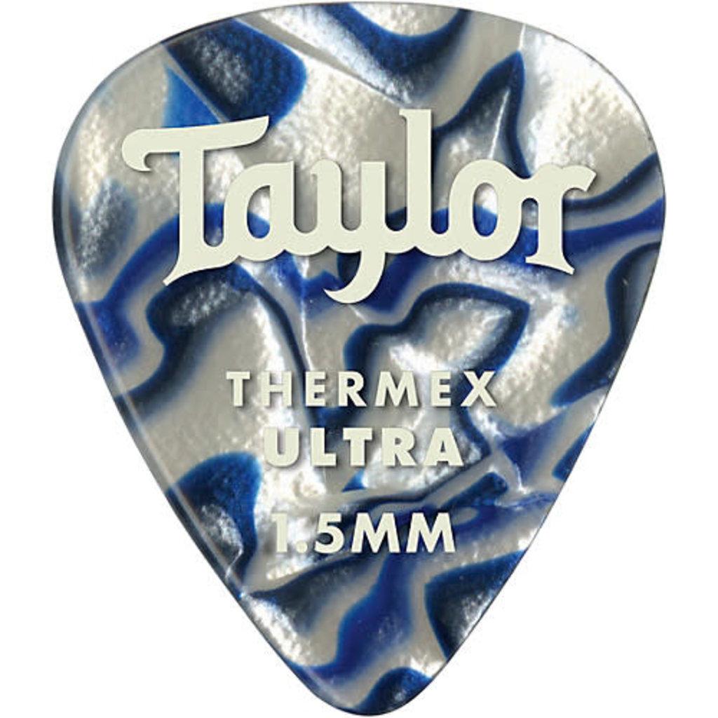 Taylor Guitars Taylor Premium 351 Thermex Ultra Pick Blue Swirl 1.5mm 6 pack