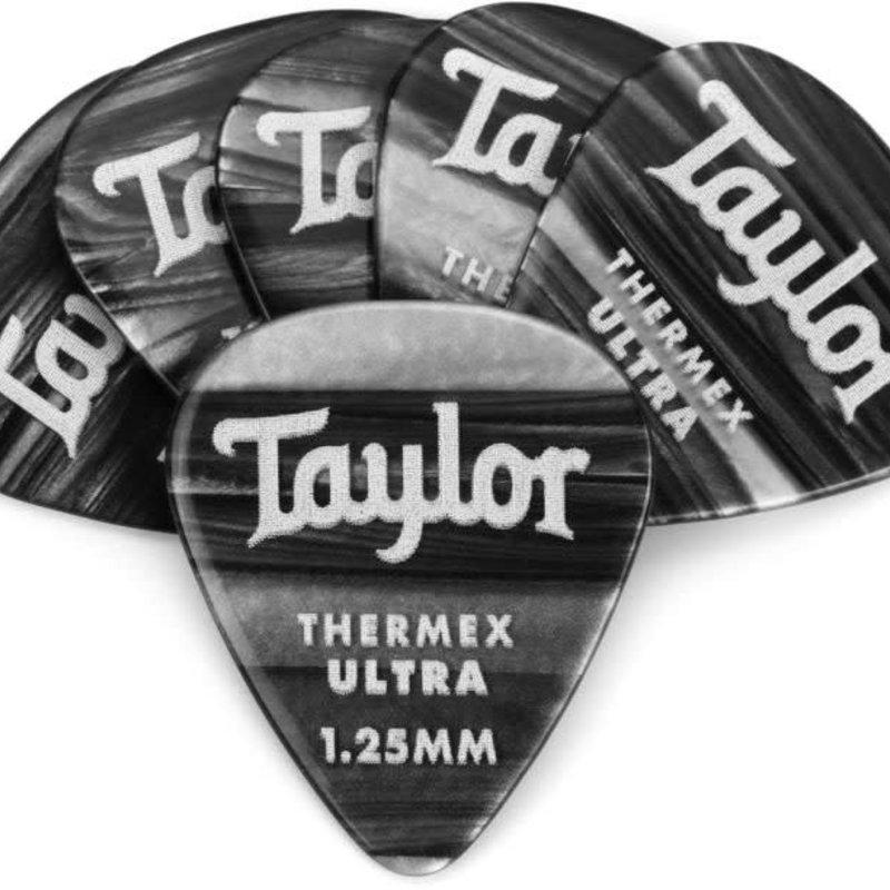 Taylor Guitars Taylor Premium 351 Thermex Ultra Pick Blk Onyx 1.25mm 6 pack